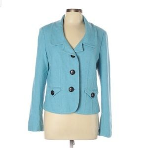 Classic Blue Talbots Lined Jacket